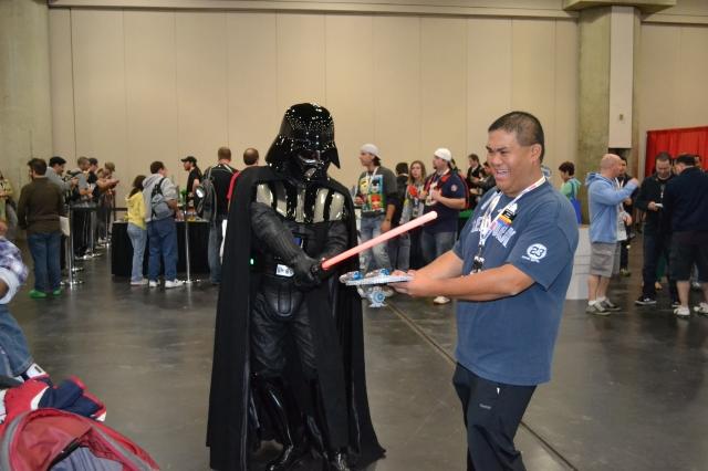 A scene from New York Comic Con...