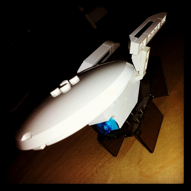 My first build of 2013: the starship Enterprise.
